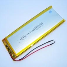 Аккумуляторная батарея HST-3555140P - 3200mAh 3.7v - размер 140*55*3 - 2 контакта