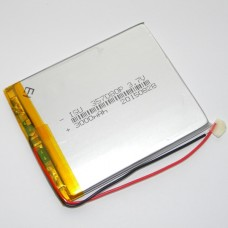 Аккумуляторная батарея HST-357080P - 3000mAh 3.7v - размер 80*70*3,5 - 2 контакта