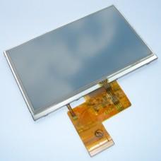 Дисплей 5 дюймов - размер 120*75мм - 480x272 пикс - 40pin и тачскрин